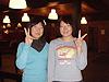 [写真]ボッカティにて矢口小百合選手(右)と太田選手