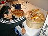[写真]ドイツパンは美味しいと長田選手