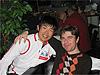 [写真]新田選手とトーマス選手