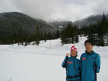 [写真]2010バンクーバーのコースに初めて日本選手がたつ