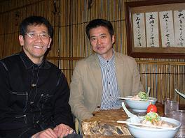 [写真]荒井監督と長田選手
