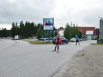 [写真]30kmローラースキー練習