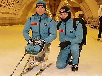 [写真]スキートンネルは寒い