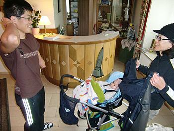 [写真]新田選手と横山久美子さん