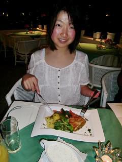 [写真]宿舎の夕食