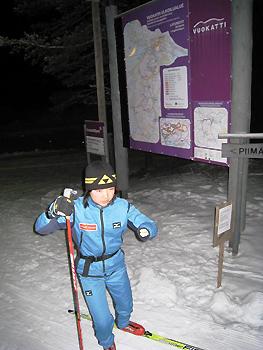 [写真]スキー練習中の太田選手