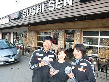 [写真]新田選手、太田選手とまきさん