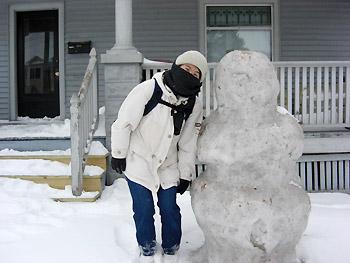 [写真]アイオワの雪だるま