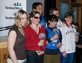 [写真]2007ワールドカップ総合優勝の表彰式