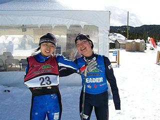 [写真]太田渉子と出来島桃子