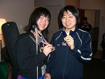 [写真]太田選手と出来島選手