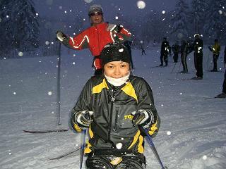 [写真1]2006年12月旭岳合宿での近藤さつき