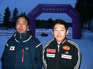 [写真]小林ガイドと瀧上選手