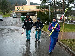 [写真]井口選手と小林ガイド、太田選手