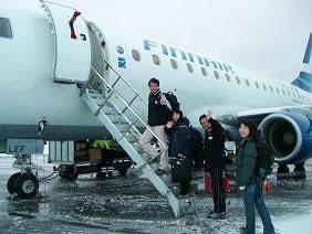 [写真]カヤーニから乗った飛行機