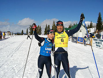 [写真]バイアスロン最終レース 井口深雪、小林ガイド