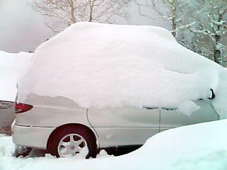 [写真]雪に埋もれた車