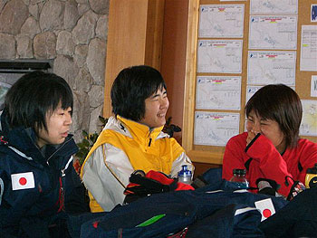 [写真]平沢選手・五味ガイド・出来島選手