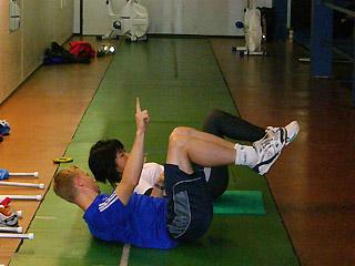 [写真]筋力アップの練習