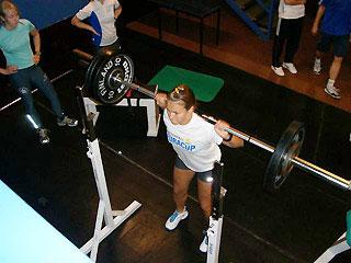 [写真]筋力トレーニング