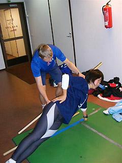 [写真]トレーニングする太田選手