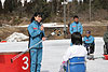 [写真]引退セレモニーで挨拶をする井口選手