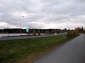 [写真]フィンランドの道路の様子