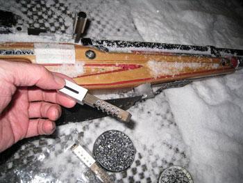 [写真]エアライフルの弾が詰められたカートリッジ