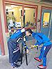 [写真]長濱ヘッドコーチと佐藤勇治ワックスコーチ