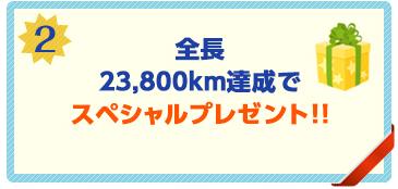 転戦ルートの全長23,800km達成で、スペシャルプレゼント