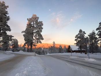 [写真]フィンランド・サーリセルカの空