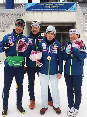 [写真]メダルを獲得した日本選手