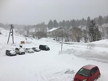 [写真]旭岳の積雪
