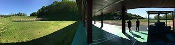 [写真]スキー場の上の射撃場