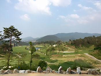 [写真]ピョンチャンパラリンピック スキーコースとなるゴルフ場