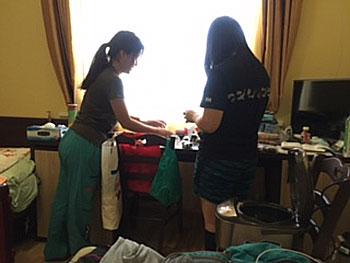 [写真]藤原さんと阿部選手