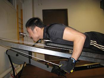 [写真]トレーニングする久保選手