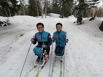 [写真]長田弘幸選手と久保恒造選手