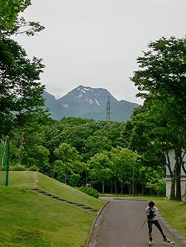[写真]新田佳浩選手練習風景