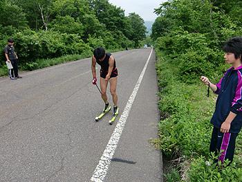 [写真]渡辺君と新田佳浩選手