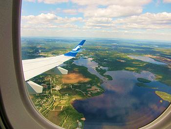 [写真]飛行機から見るフィンランド