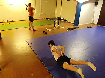 [写真]ホールドトレーニング
