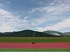 [写真]陸上競技場を走る久保恒造