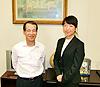 [写真]林社長と太田渉子