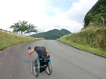 [写真]最後の急斜面