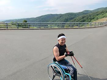 [写真]鶴子ダムに到着