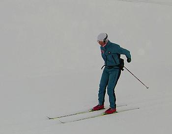 [写真]持久トレーニングする太田渉子