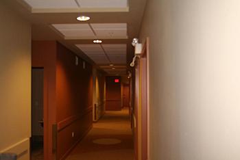 [写真]ロッジ型の廊下