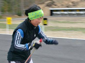 [写真]トレーニング中の太田渉子