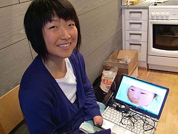 [写真]届いた赤ちゃんの写真と太田渉子